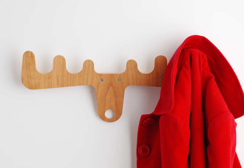 Coat hook with coat